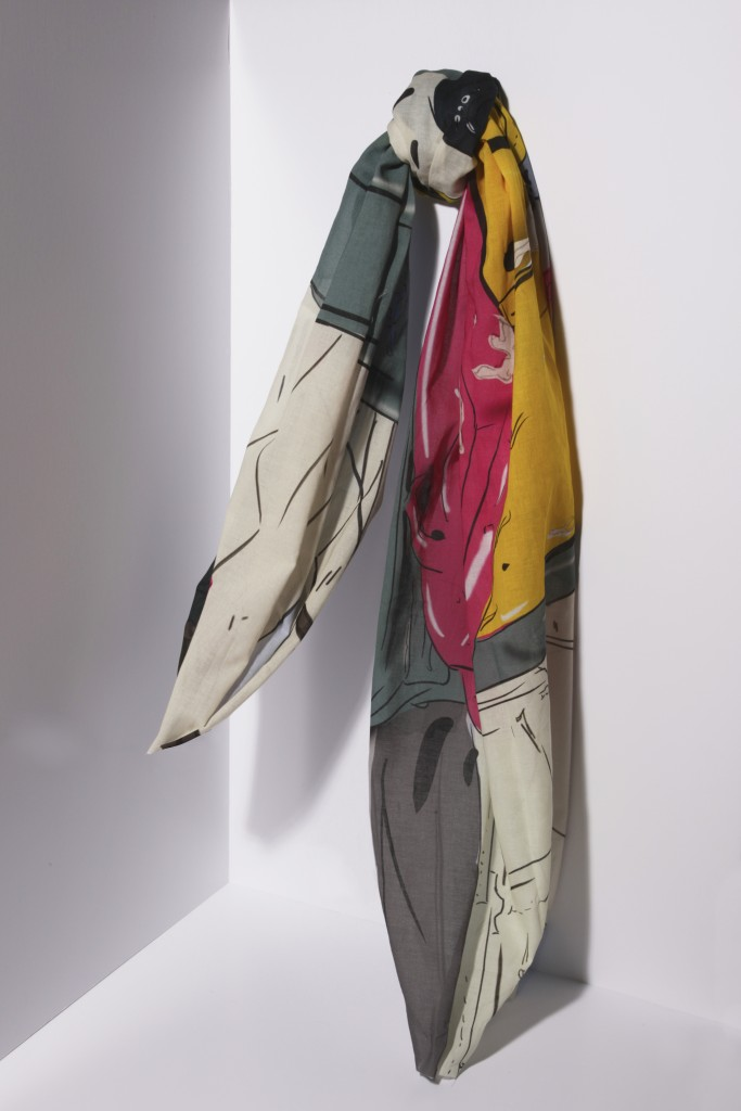 Collaboration with Martina Wyss – Scarves