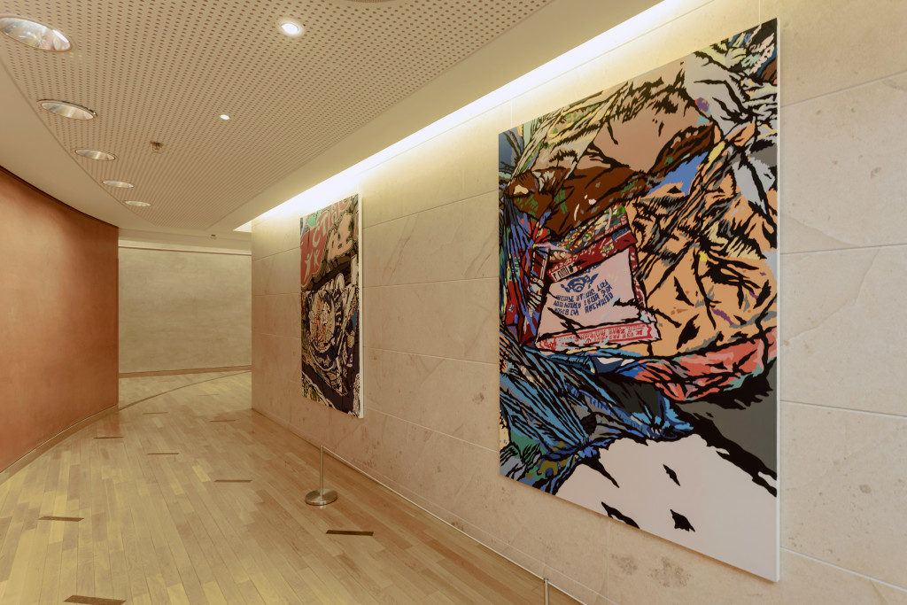Peinture sous pression – espace collection SG, Paris La Défense