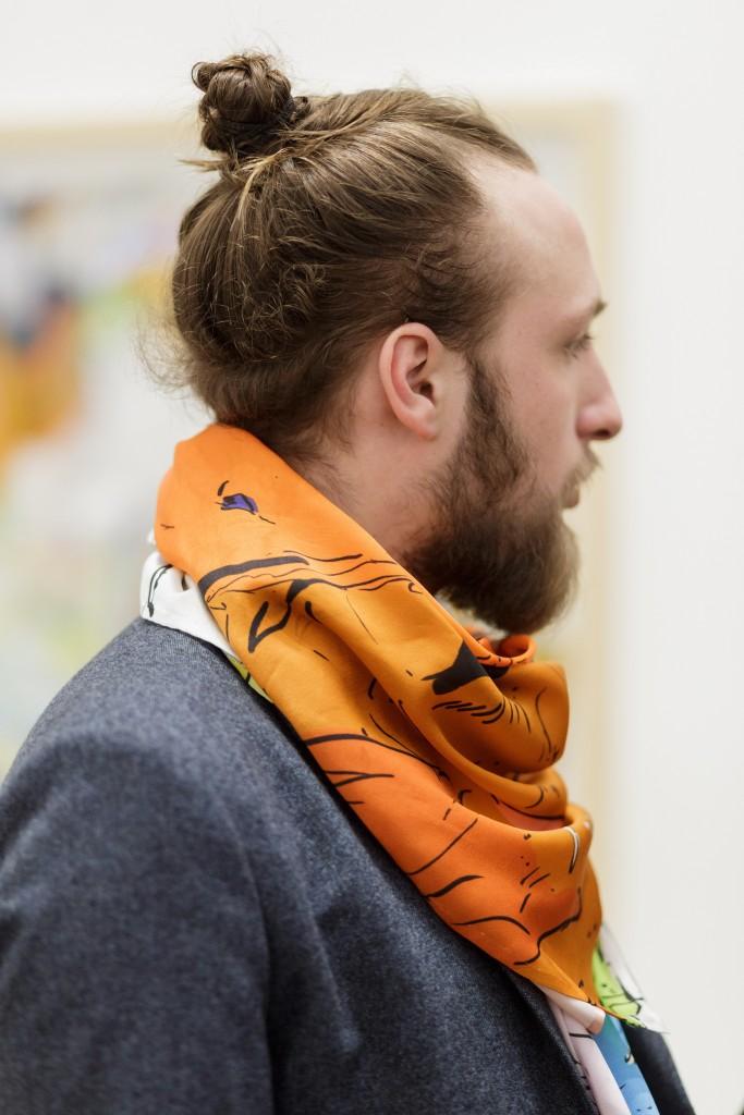 Silk scarves – Thaddaeus Ropac (Pantin)